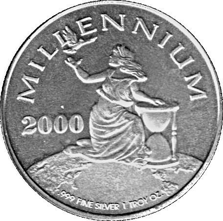 20 Dollar Millennium Liberia Numista