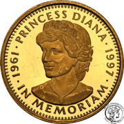 100 Dollars (Princess Diana) – reverse