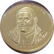 5 Dollars (Benedict XVI) – reverse
