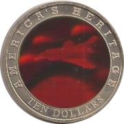 10 Dollars (Space Shuttle) – reverse