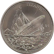 5 Dollars (Titanic with 5$) – reverse