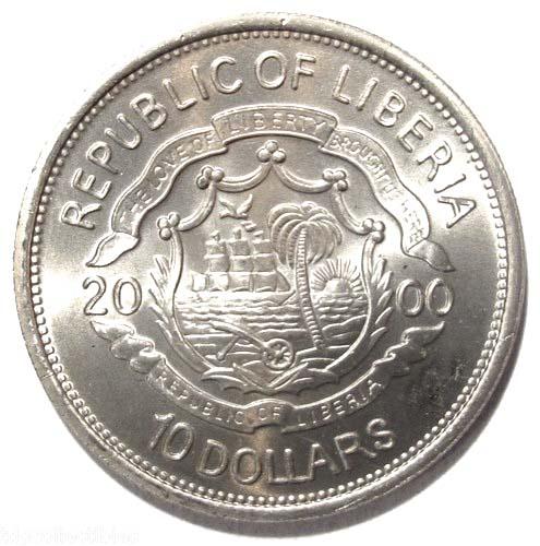 10 Dollars Millennium Liberia Numista