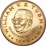 25 Dollars (70th Birthday of President Tubman) -  obverse