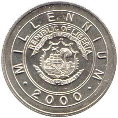Liberia 2000 1 Dollar Uncirculated KM615