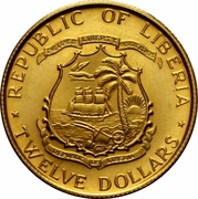 12 Dollars (President Tubman) -  obverse