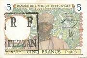 5 Francs (French occupation of the Fezzan - WWII) – obverse