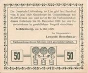 50 Heller (Lichtenberg) -  reverse