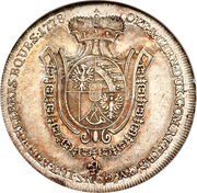 ½ Thaler - Franz Josef I – reverse