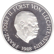 10 Franken - Franz Josef II (Anniversary of Reign) – obverse