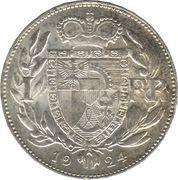 1 Frank - Johann II – reverse