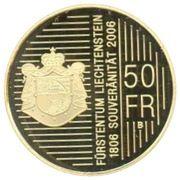 50 Franken - Johann I (200 Years of Sovereignty) – reverse