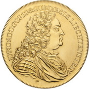 10 Ducat - Josef Johann Adam – obverse