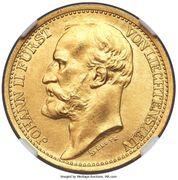 20 Kronen - Johann II (Pattern) – obverse