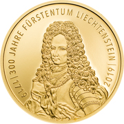25 Franken - Anton Florian (300 Year Liechtenstein) – obverse