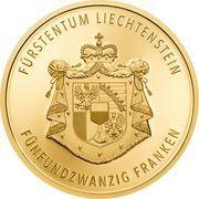 25 Franken - Anton Florian (300 Year Liechtenstein) – reverse