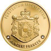 100 Franken - Anton Florian (300 Year Liechtenstein) – reverse