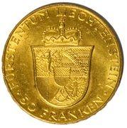 50 Franken - Franz Josef II (Franz Josef II and Princess Gina) – reverse