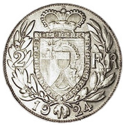 2 Franken - Johann II – reverse