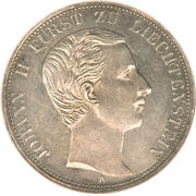 1 Vereinsthaler - Johann II – obverse