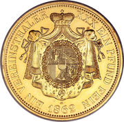 1 Vereinsthaler - Johann II (Gold restrike) – reverse