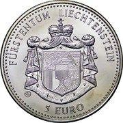 5 Euro (Liechtenstein Railroad) – obverse
