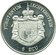5 ECU (Castle of Gutenberg) – obverse