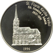 5 Euro (St. Florian Church in Vaduz) – reverse