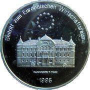5 ECU (Liechtenstein - Regierungssitz in Vaduz) – reverse