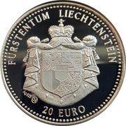 20 Euro (Liechtenstein Railroad) – obverse