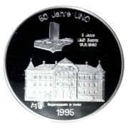 20 ECU (50 jahre UNO) – reverse