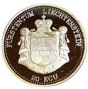 20 ECU (Vaduz Castle) – obverse