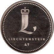 Token - Liechtenstein (Parliament) – reverse
