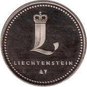 Token - Liechtenstein (Vaduz Castle) – reverse
