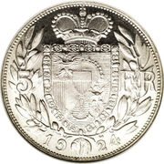 5 Franken - Johann II – reverse