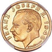 20 Franken - Franz Josef II – obverse