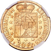 20 Franken - Franz Josef II – reverse