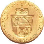 100 Franken - Franz Josef II (Franz Josef II and Princess Gina) – reverse