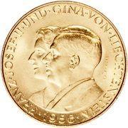 25 Franken - Franz Josef II (Franz Josef II and Princess Gina) – obverse