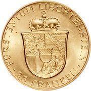 25 Franken - Franz Josef II (Franz Josef II and Princess Gina) – reverse