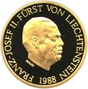 50 Franken - Franz Josef II (Anniversary of Reign) – obverse