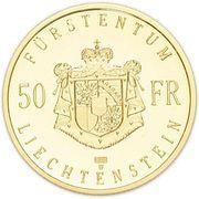 50 Franken - Hans-Adam II (Succession of Hans-Adam II) – reverse