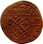 "12 Sols Brûlé ""½ Aidant or Gigot"" - Ferdinand of Bavaria – obverse"