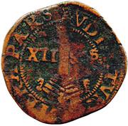 """12 Sols Brûlé """"½ Aidant or Gigot""""- Ernest of Bavaria – reverse"""