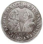 1 Thaler - Johann Christian & Georg Rudolf – obverse