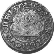 1 Kreuzer - Georg III, Ludwig IV & Christian – obverse
