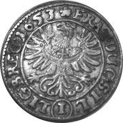 1 Kreuzer - Georg III, Ludwig IV & Christian – reverse