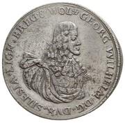 ½ Thaler - Georg Wilhelm (Death of Georg Wilhelm) – obverse