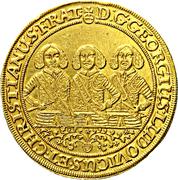 5 Ducat - Georg III, Ludwig IV & Christian – obverse