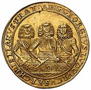 10 Ducat - Georg III, Ludwig IV & Christian (Brieg) – obverse