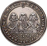 ¼ Thaler - Georg III, Ludwig IV & Christian – obverse